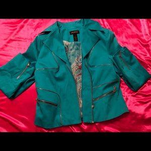 Teal Lane Bryant jacket